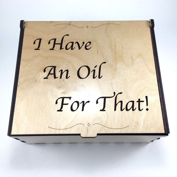 Essential Oil Box Medium Box I Have An Oil For That Aromatherapy Storage  sc 1 st  Pinterest & Essential Oil Box Medium Box I Have An Oil For That Aromatherapy ...