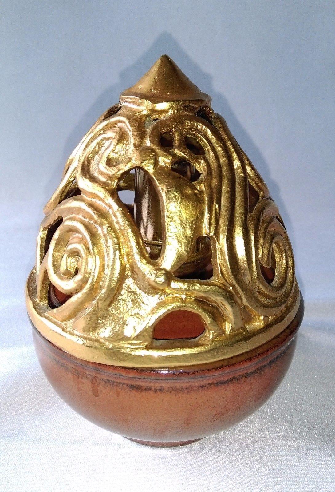 Sublime Lampe Berger De Pierre Casenove Beijing En Bronze Dore