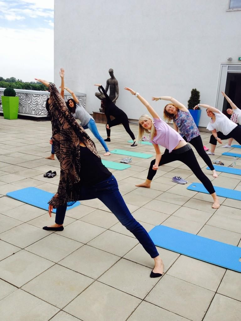 Yoga fun @Walsall_College