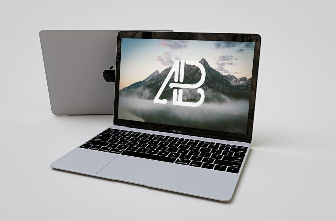 Free Realistic Apple Macbook Mockup Macbook Mockup Macbook Mockup Free Mockup Templates