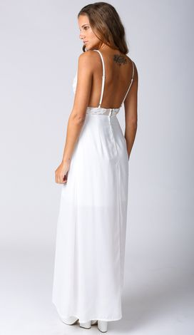Restless Nights Maxi in White $49.99 http://www.popcherry.com.au/new-arrivals/