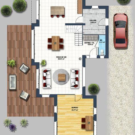 Cu0027est un modèle de maison moderne baignée de lumière que lu0027on vous - modele de construction maison