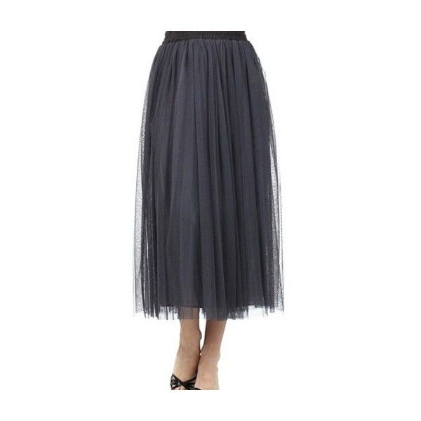 A-Line Tulle Skirt - Apostolic Clothing Co. ($49) ❤ liked on Polyvore featuring skirts, a line skirt, elastic waist skirt, knee length a line skirt, tulle skirt and elastic waist a line skirt
