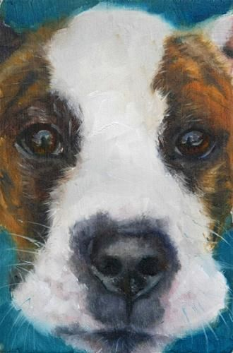 Barista Dog - Original Fine Art for Sale - © Clair Hartmann