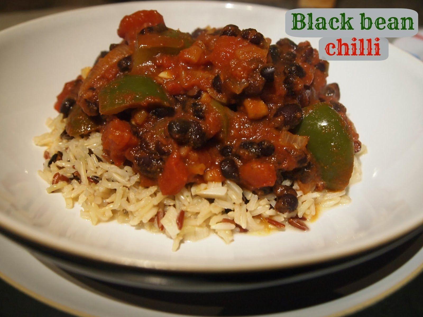 Black bean chilli 4 propoints per serving.  #weightwatchers