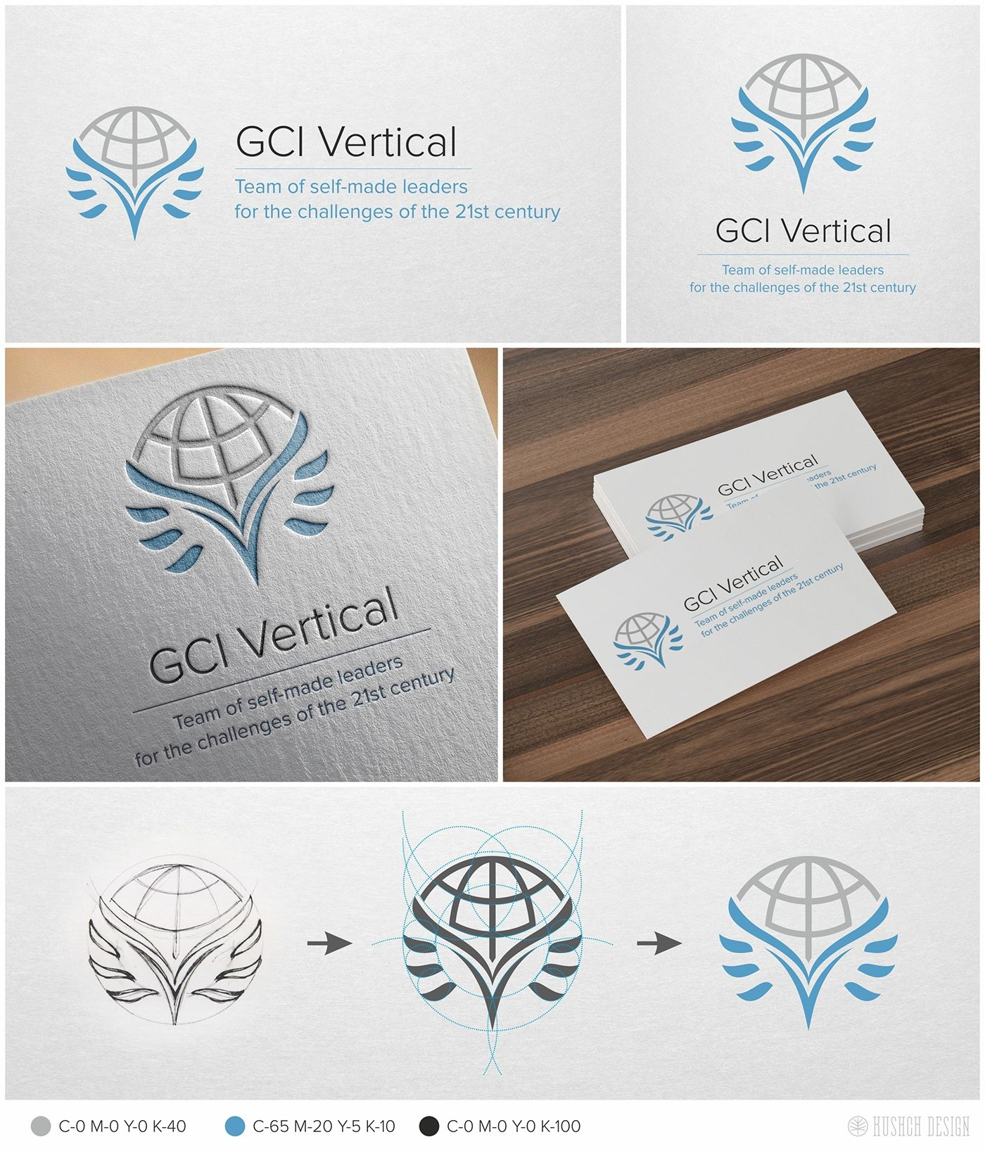 Logo GCI Vertical id brand design planet abstract dove pigeon ...