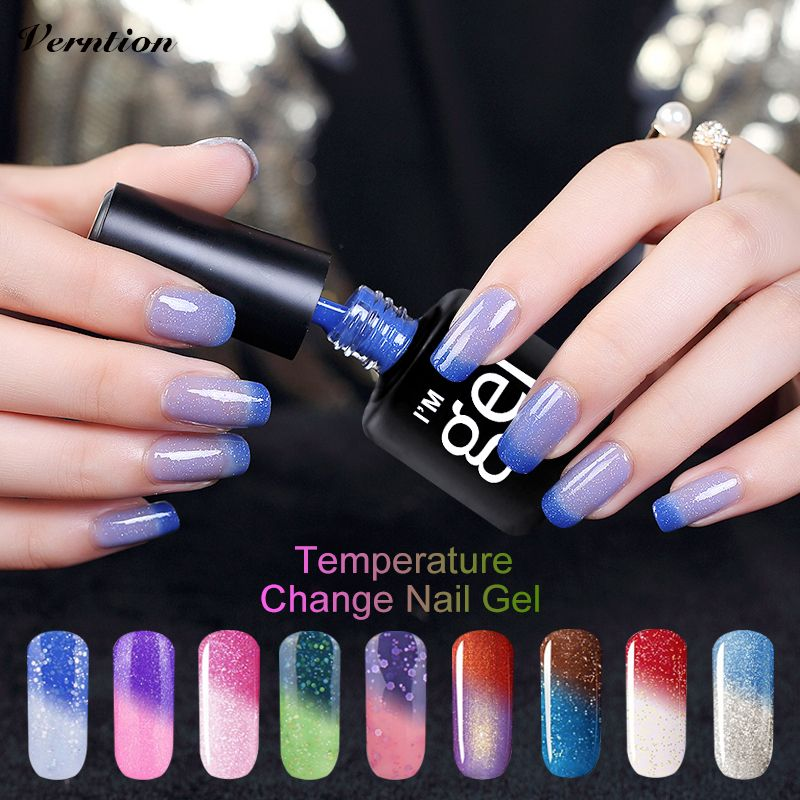 Free Shipping] Buy Best Verntion Thermo Nail Polish Gel Varnishes ...