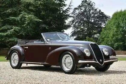Automobilhersteller:  Alfa Romeo  Modell:  6C 2500 Touring S Sport 1939 Normale  Jahr:  1939-1952  Kunst:  Kabriolett