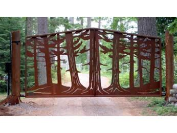 Cramblit 39 s welding llc fine metal works of gates for Metal privacy screens for decks