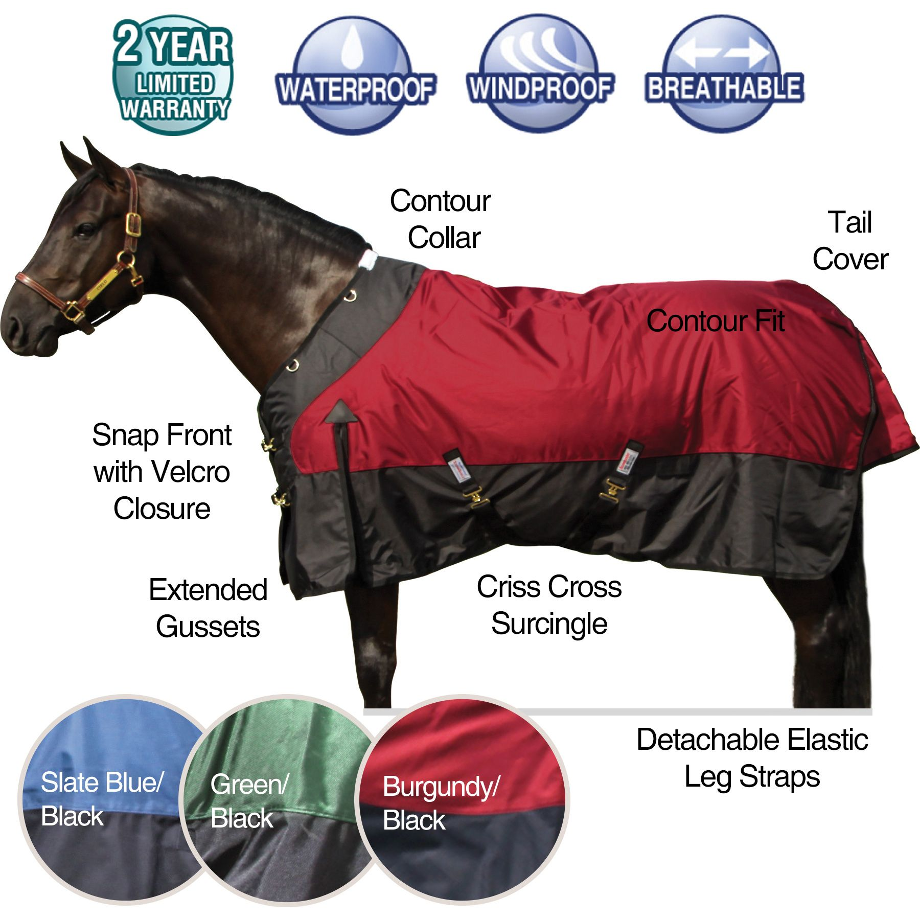 <ul> <li> <strong>Contour collar for snugger fit at neck and…