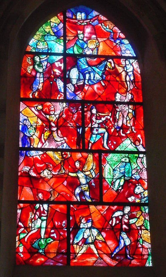 Marc Chagall Stained Glass Window Fenster Kunst