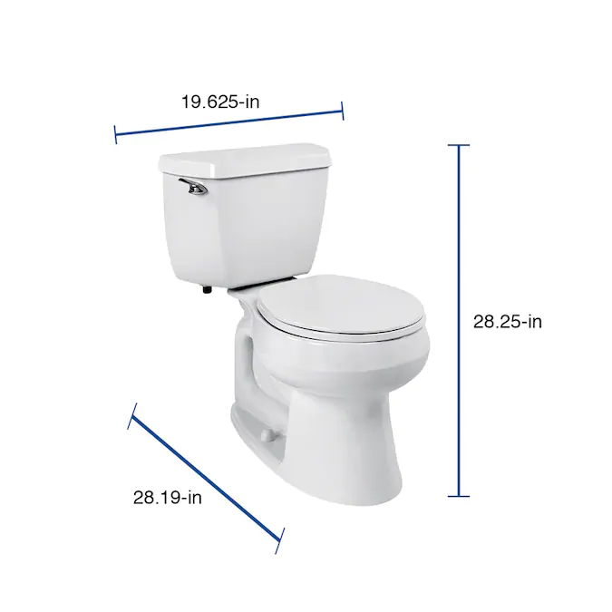Kohler Wellworth White Watersense Round Standard Height 2 Piece Toilet 12 In Rough In Size Lowes Com In 2020 Water Sense Toilet Kohler