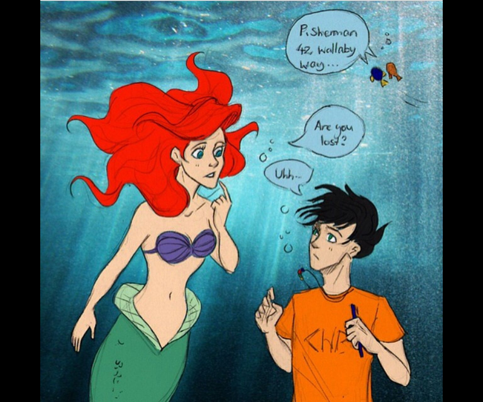 Finding nemo  the little mermaid and Percy of Jackson