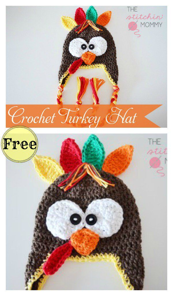 Turkey Hat Free Crochet Patterns And Paid Crochet Hats Crochet Hats Free Pattern Fall Crochet Patterns