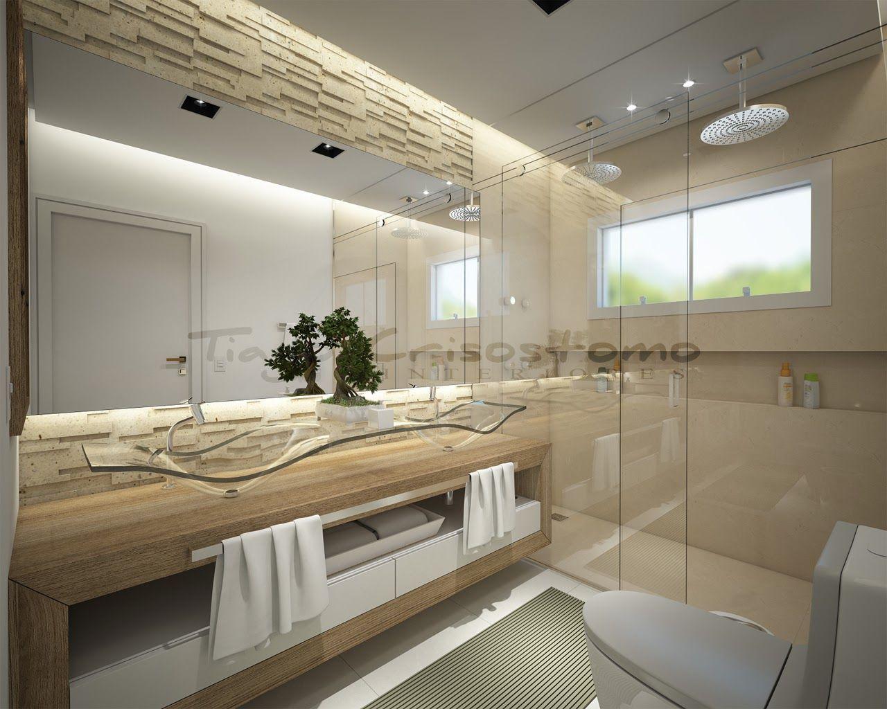 Bancada aberta com duas cubas  Banheiro  Pinterest  Showroom, Bath and Int -> Pia Para Banheiro Sketchup