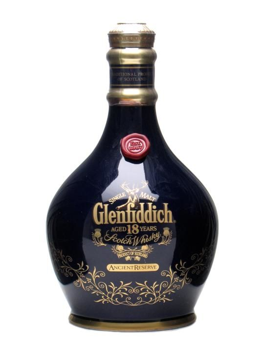 Glenfiddich 18 Year Old / Ancient Reserve / Blue Spode ~£225