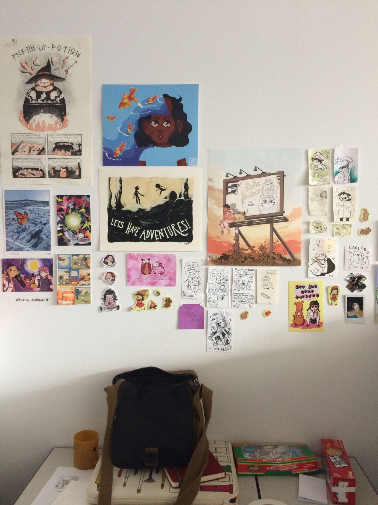 Trying to achieve that art hoe aesthetic | Idée déco ... on Room Decor Ideas De Cuartos Aesthetic id=74655