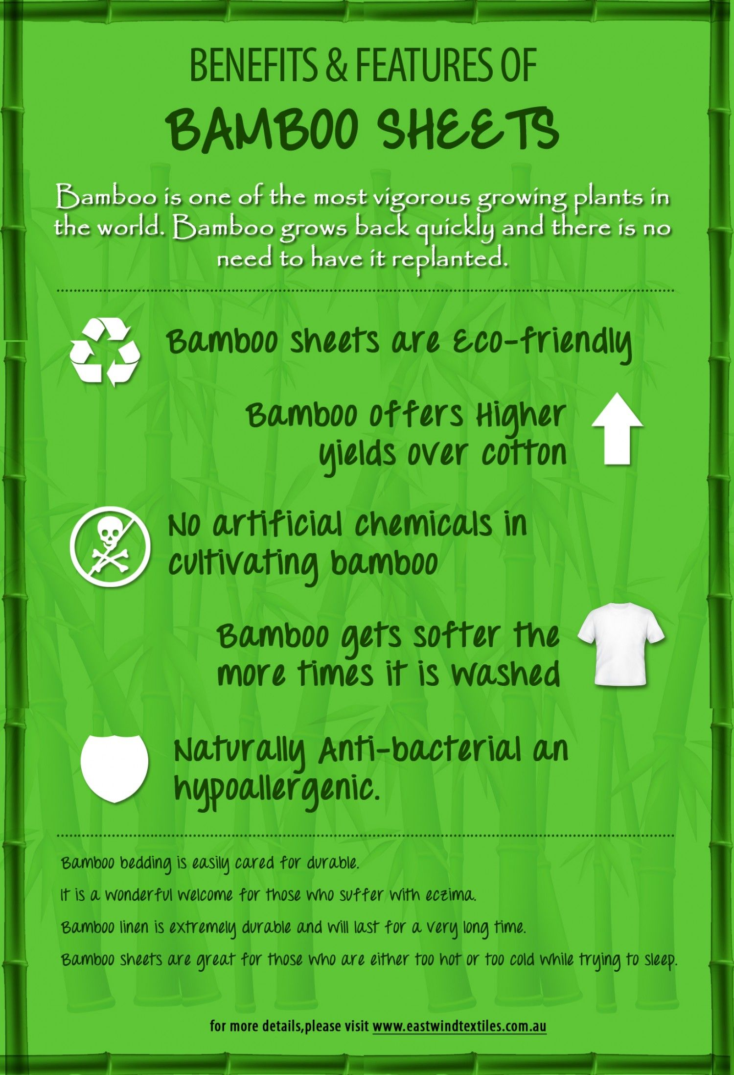 Why To Use Bamboo Sheets Infographic