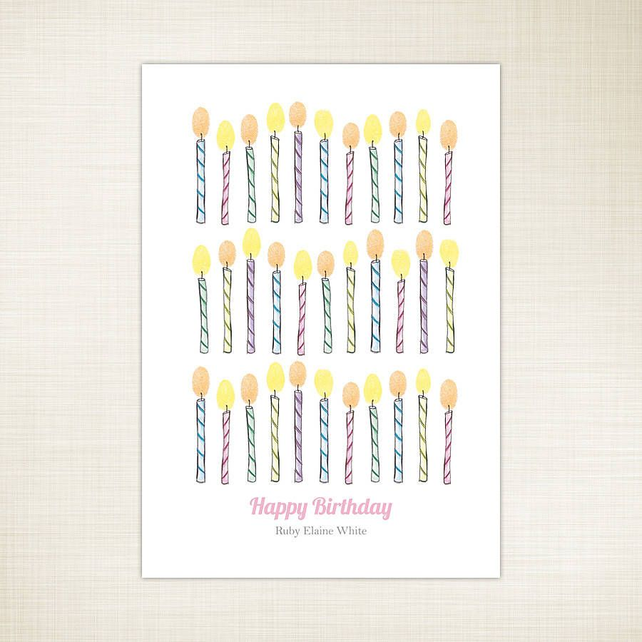 Personalised Fingerprint Candles Print Gift Ideas Teacher Gifts