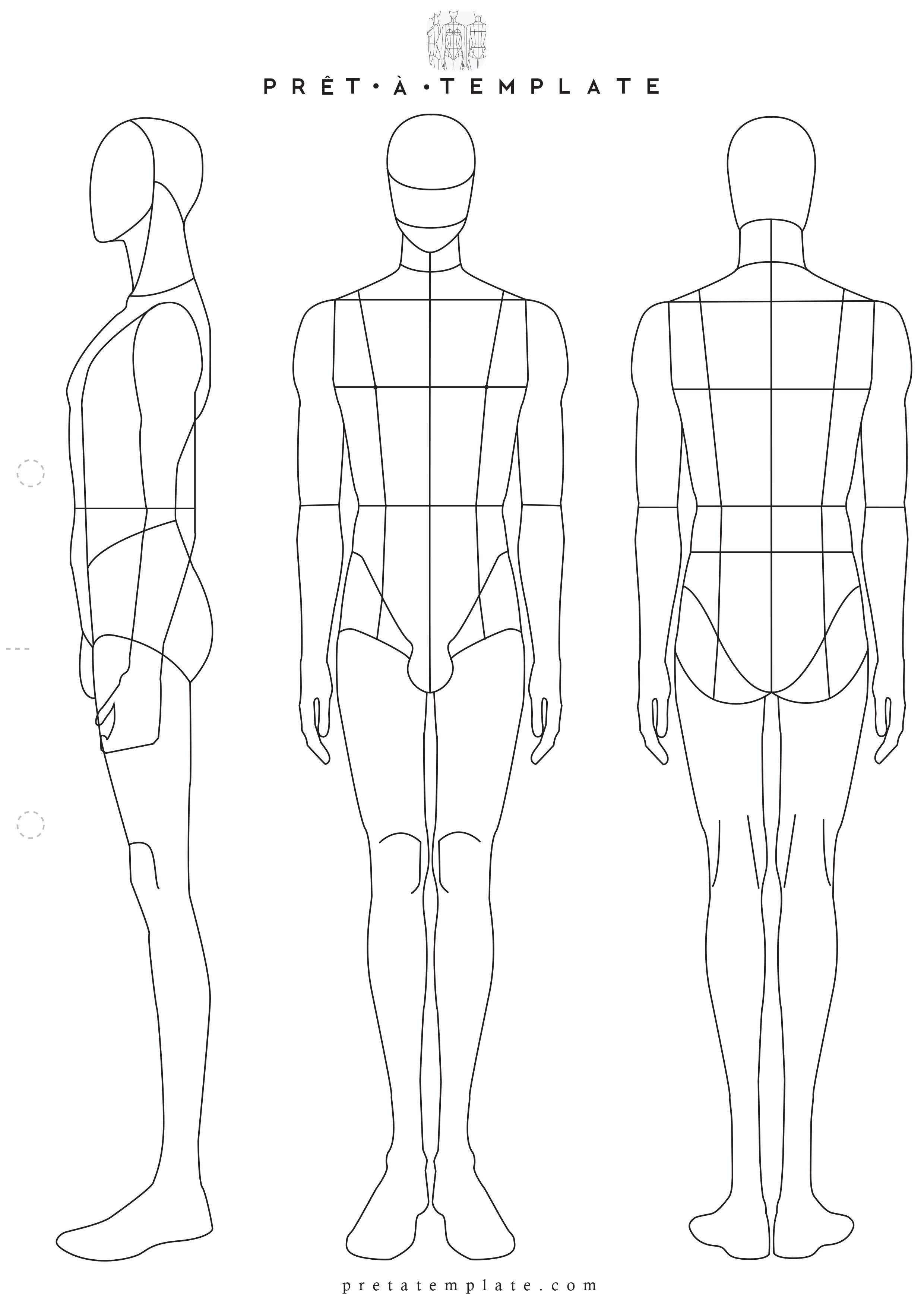Man Male Body Figure Fashion Template D I Y Your Own Fashion Sketchbook Keywo Fashion Illustration Template Fashion Design Template Fashion Figure Templates
