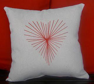 Heart String Art Pillow Tutorial