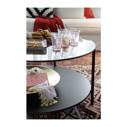 VITTSJÖ Coffee table IKEA The table top in tempered glass is stain resistant and easy to clean.