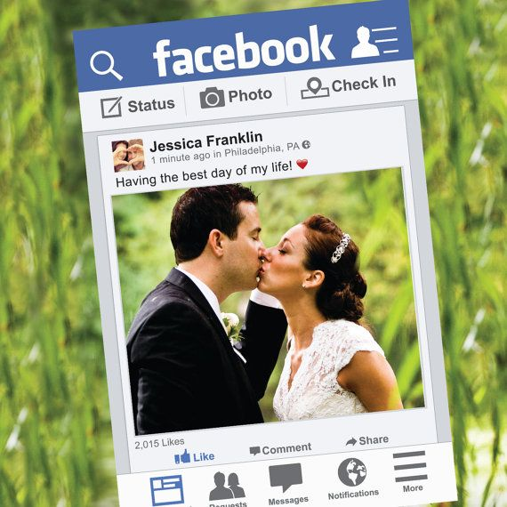 Facebook Photo Prop Birthday Or Wedding By Creativeuniondesign Facebook Photo Prop Wedding Photo Props Funny Photo Booth Props
