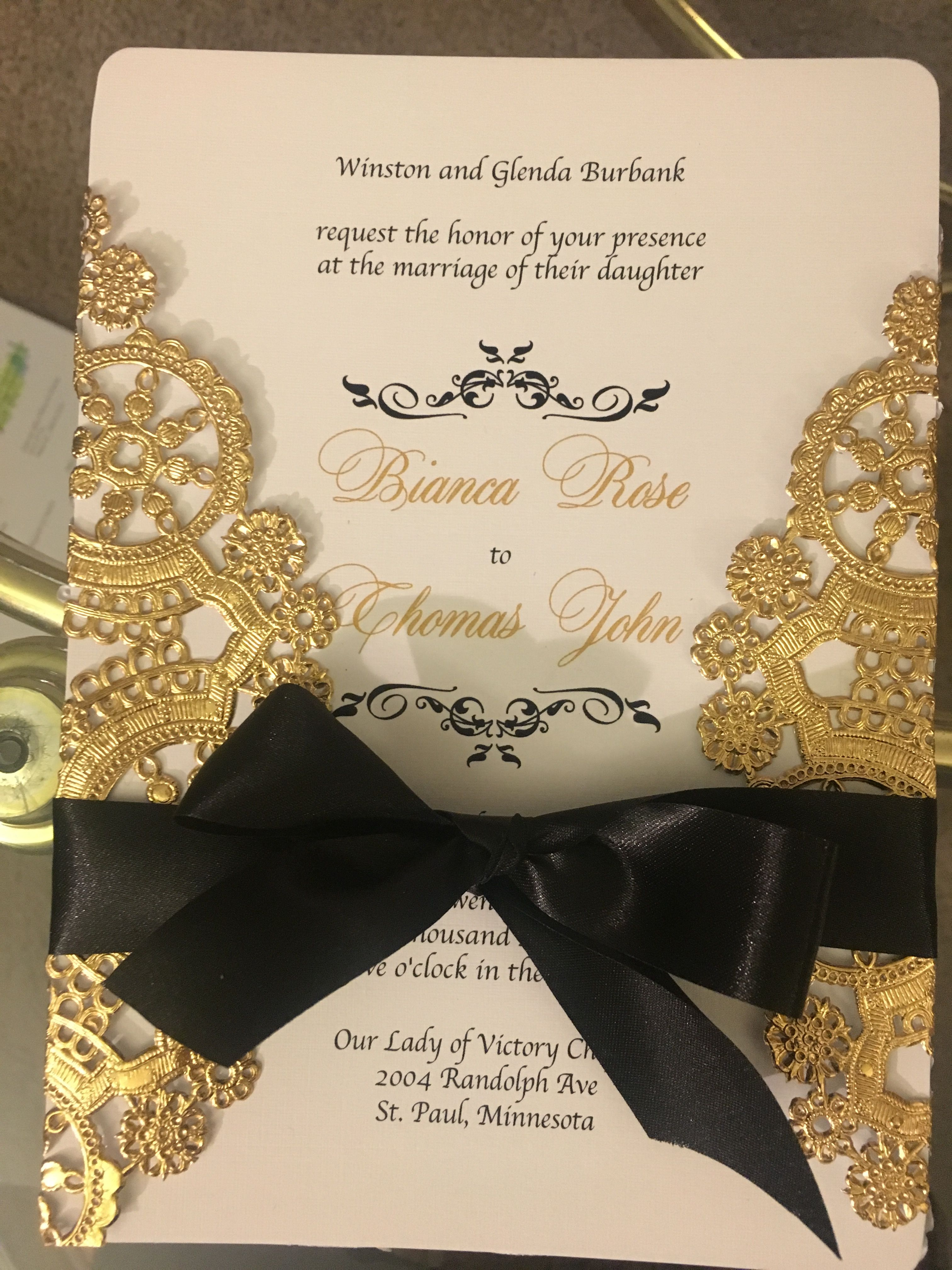 Wedding invitation using our 8\