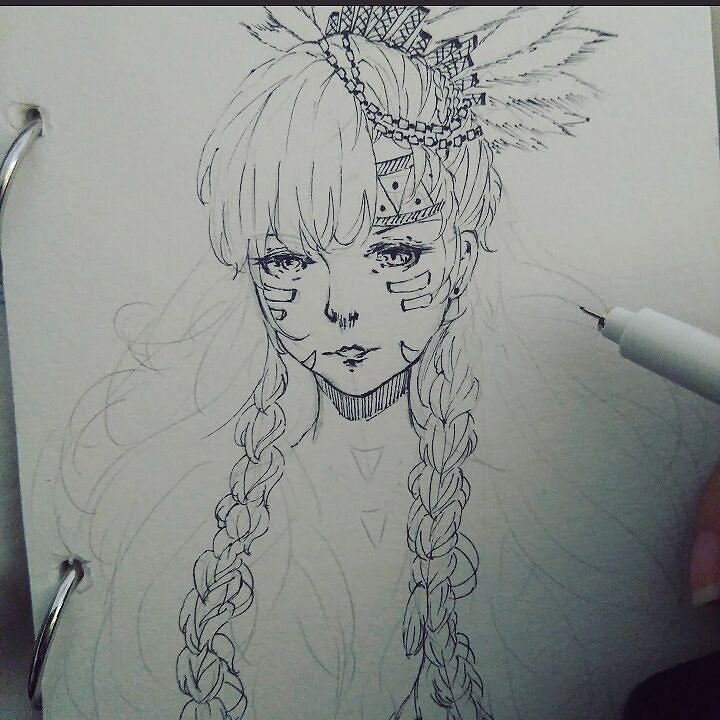 Sketch.... #sketch #drawing #doodle #traditionalart #talentedpeopleinc #art #artwork #artsy #artist #mangaart #mangadrawing #animeart #animearttr #girl #originalcharacter #longhair #sketchbook #details #instadraw #instaart #wip #kawaii #character #creative #inking #aboriginal #support_anime_artists #freestyle by macchiato210