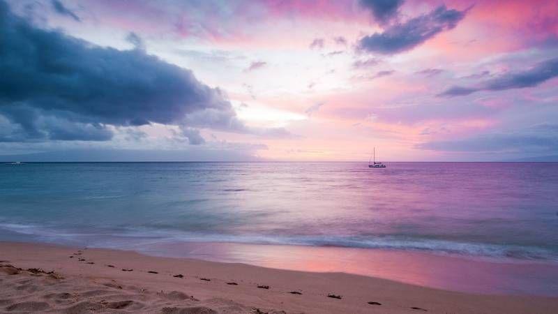 Обои Рассвет на берегу моря | Рассвет-Закат в 2019 г ...