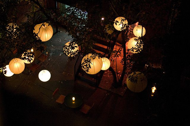 I Thought These Were Lanterns With Leaves Painted On The Outside But Now Realize Must Create Them Myself