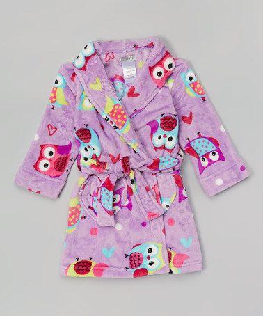 By At Look Komar Toddleramp; ThiszulilyfindPurple Robe Girls Owl jqc35SAR4L