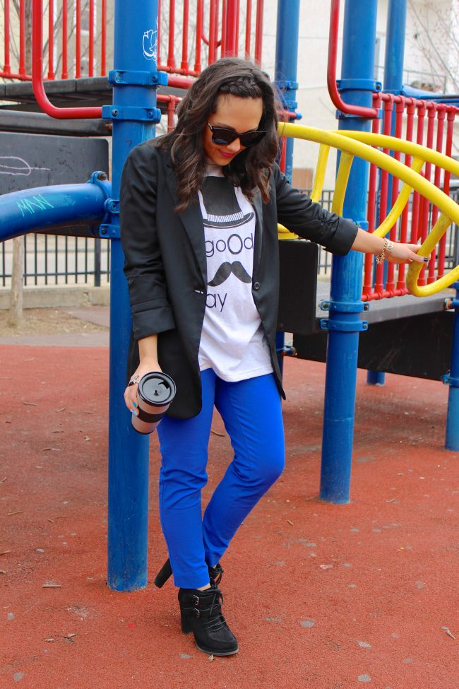 Electric blue skinnies | JustSoWereClear.co