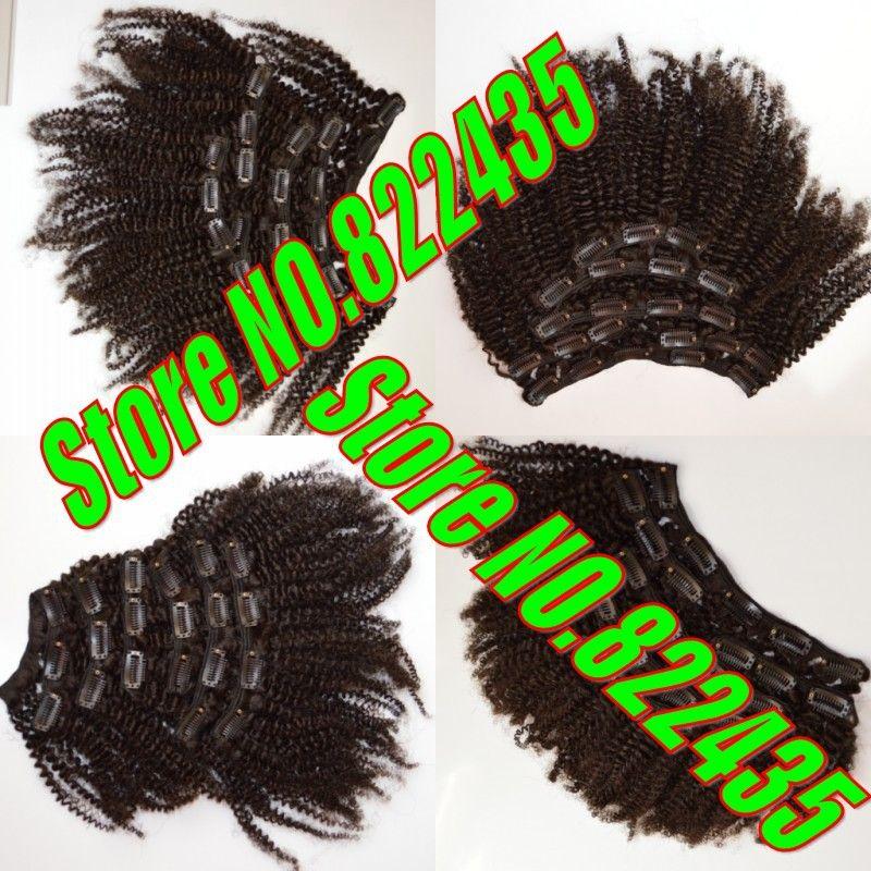 Shipping Free 4b4c Afro Kinky Mongolian Virgin Hair Clip In Hair