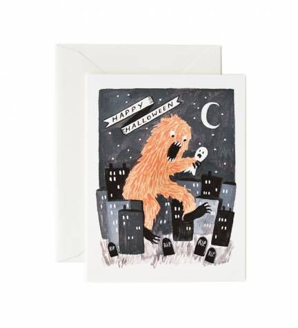 Rifle Paper Co. - Hungry Monster - Available As A Single Folded Card Or Boxed Set Of 8