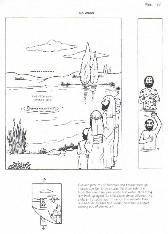 Naaman healed of leprosy craft 2 Kings 5. Free printable, picture ...
