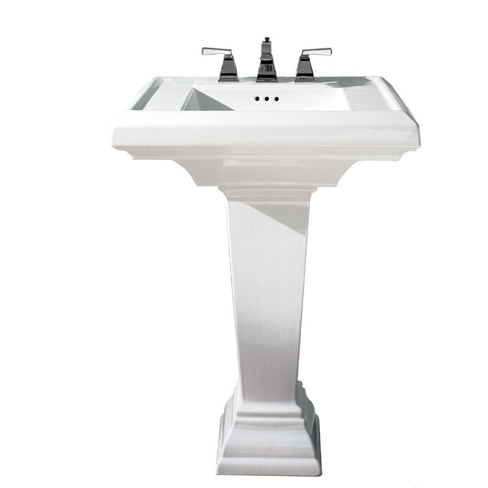 American Standard Town Square Pedestal Combo Bathroom Sink With 8