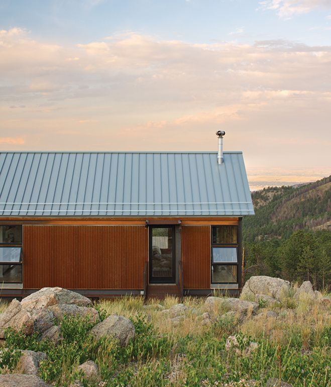The Fire Resistant Structure Is Clad In Corrugated Cor Ten Steel That Has Been Left To Rust For Easy Mai Architecture Contemporary Farmhouse Steel Architecture