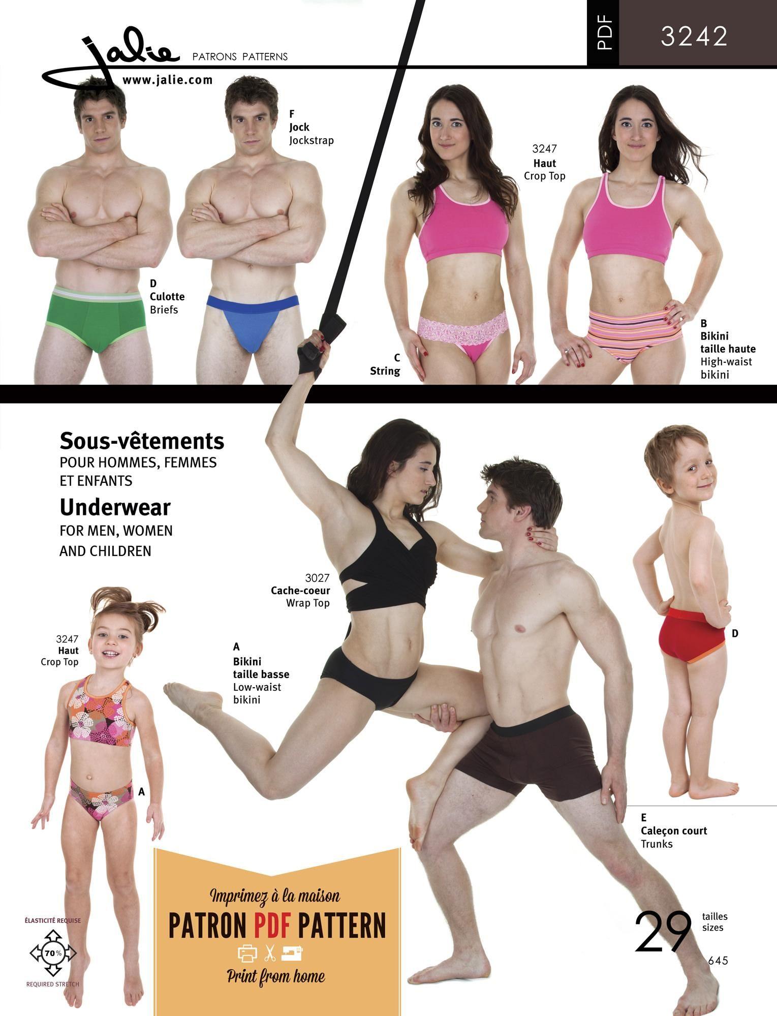3242 - Underwear PDF Pattern for Women, Men and Children | Sewing ...