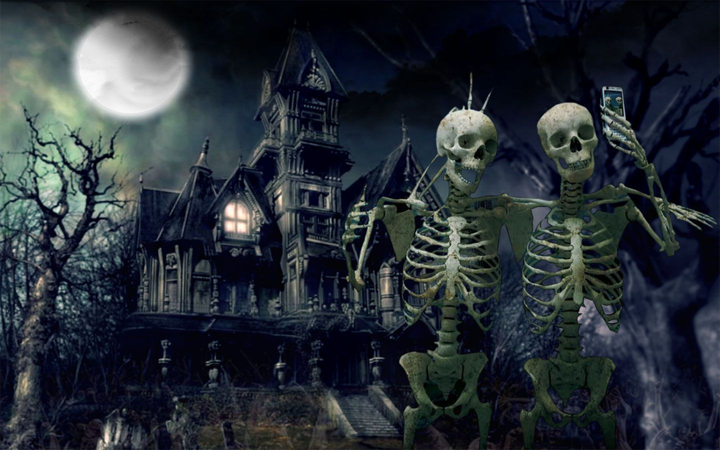 Halloween haunted house wallpapers festival collections