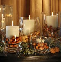 Candles with Acorns