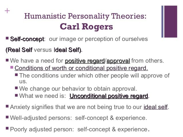 Humanistics existentially personality theories