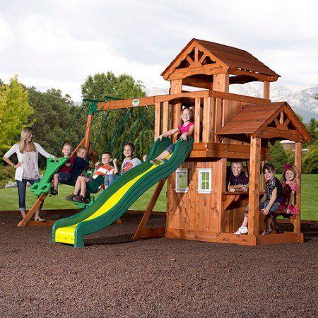 Backyard Discovery Tanglewood Cedar Wood Swing Set, Box 2 ...