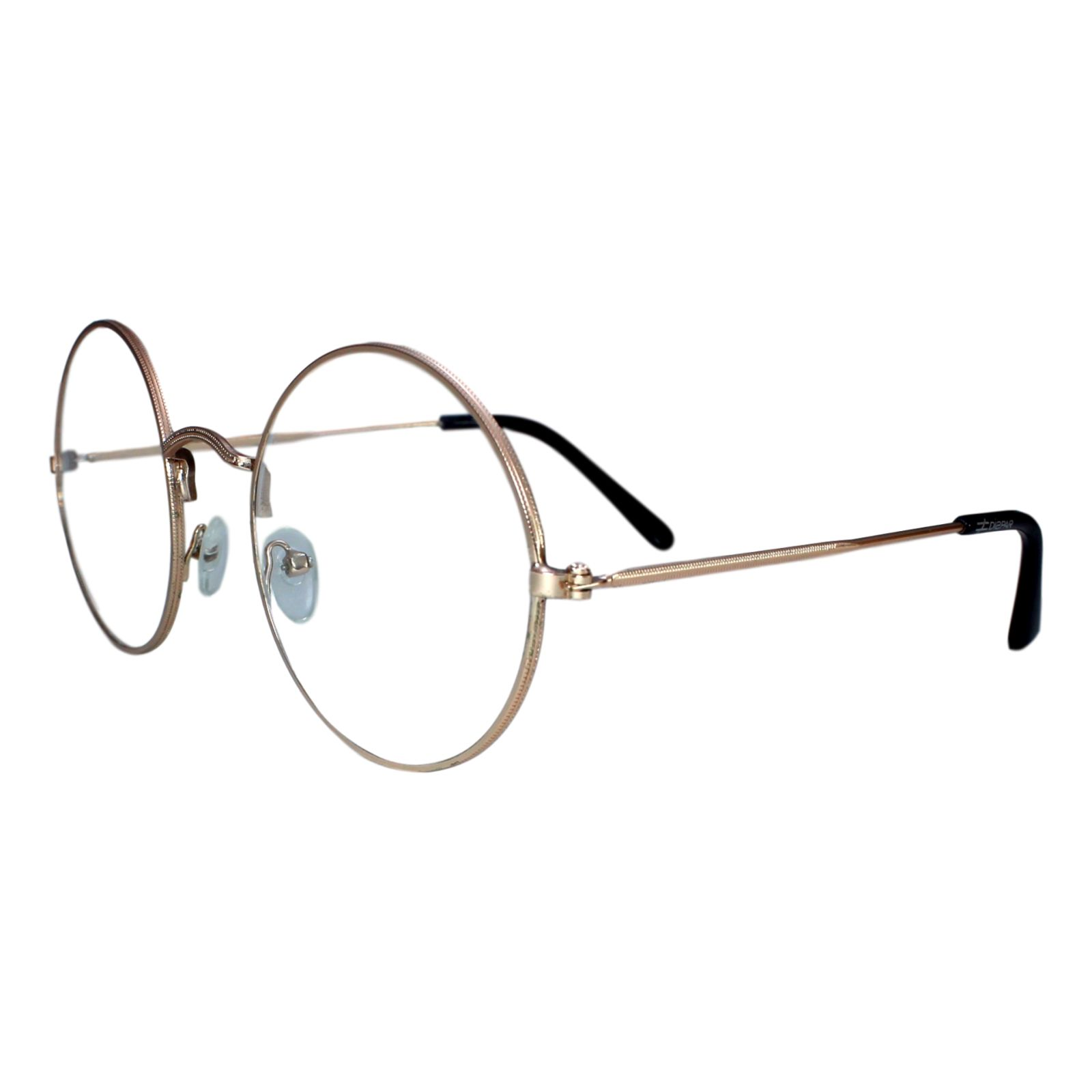 Armação para Óculos Díspar D1646 Redondo Grande Dourado - Marca Díspar b5b5e3ec7d