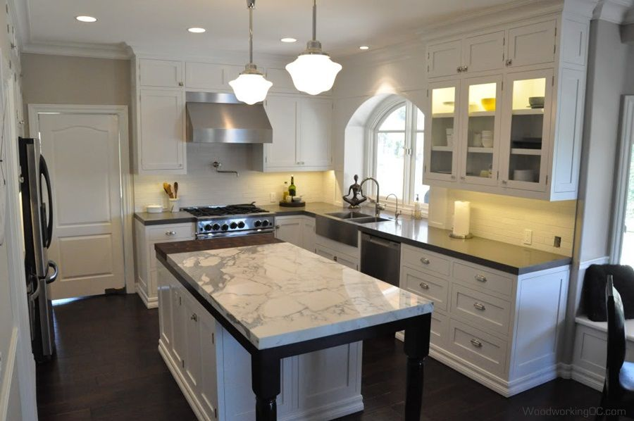 off white antique kitchen cabinets with marble counter top on wall decals http - White Cabinets Kitchens