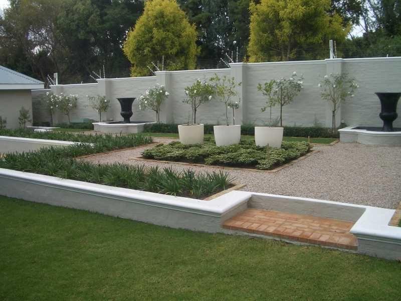 Gartenanlage Landscaped Symmetry Moderne Zahrady Modern Gardens