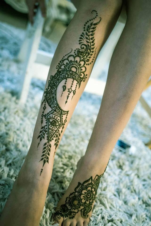Leg Side Mehndi Design : Henna by gopihenna designs pinterest