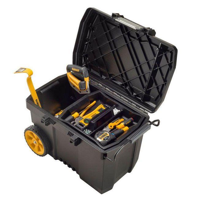 Dewalt 15 Gal Mobile Rolling Tool Box Storage With Removable Organizer Tray Portable Tool Box Tool Box Storage Tool Box On Wheels