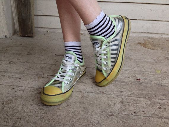 c986d97ef9f2 90s Transparent Converse GLOW in th dark All star shoes
