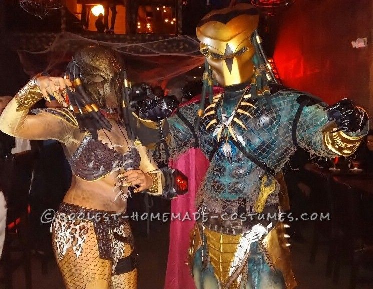 Original Homemade Mr. and Mrs. Predator Couple Costume... Coolest Halloween Costume Contest & Original Homemade Mr. and Mrs. Predator Couple Costume | Predator ...
